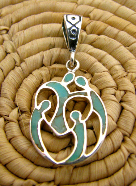 Family Love Pendant Sterling Silver