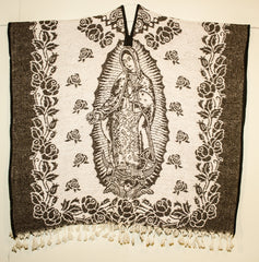 Mexican Poncho  Our Lady of Guadalupe Gaban GA010