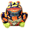 TALAVERA FROG FLOWER POT PLANTER TFP041