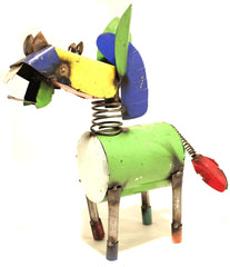 METAL DONKEY YARD ART SCULPTURE SMALL  MDNK005