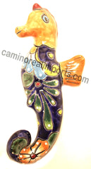 "TALAVERA WALL DECOR SEA HORSE 9.5"" TWSH004"