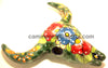 Mexican Wall Hanging Talavera Pottery Cow Skull TSK003