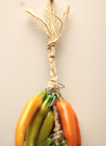 Mexican Wall Hanging Ceramic Chile Ristra Ccp010 Lg
