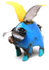 "METAL PIG WITH WINGS ""WHEN PIGS FLY"" YARD ART SCULPTURE SMALL  MFPS011"