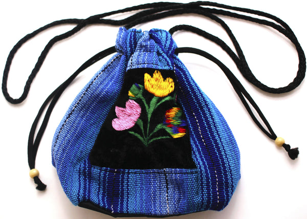 GUATEMALA POUCH PURSE with FLOWERS GPP001