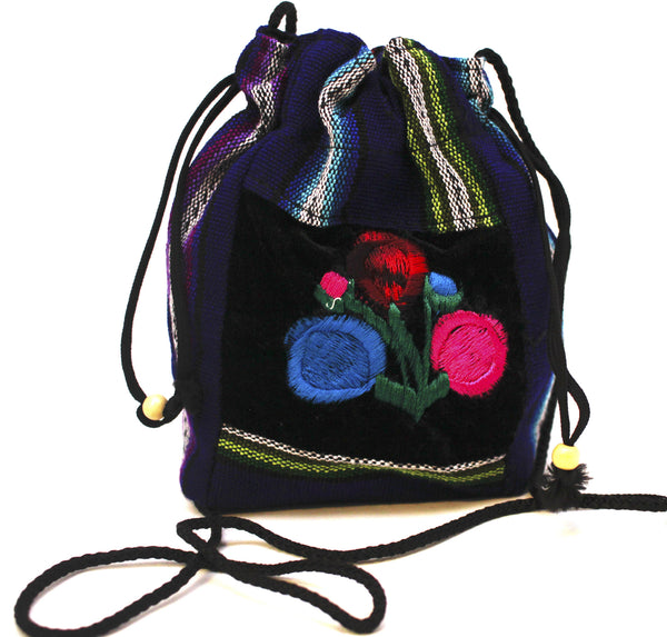 GUATEMALA POUCH PURSE with FLOWERS GPP003
