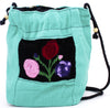 GUATEMALA POUCH PURSE with FLOWERS GPP004