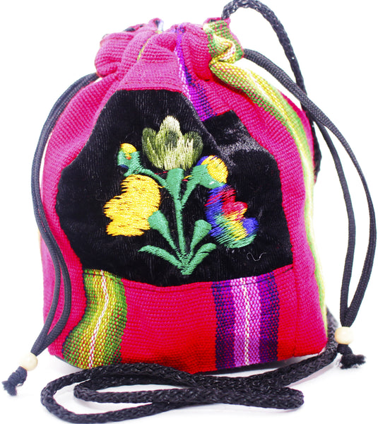 GUATEMALA POUCH PURSE with FLOWERS GPP005