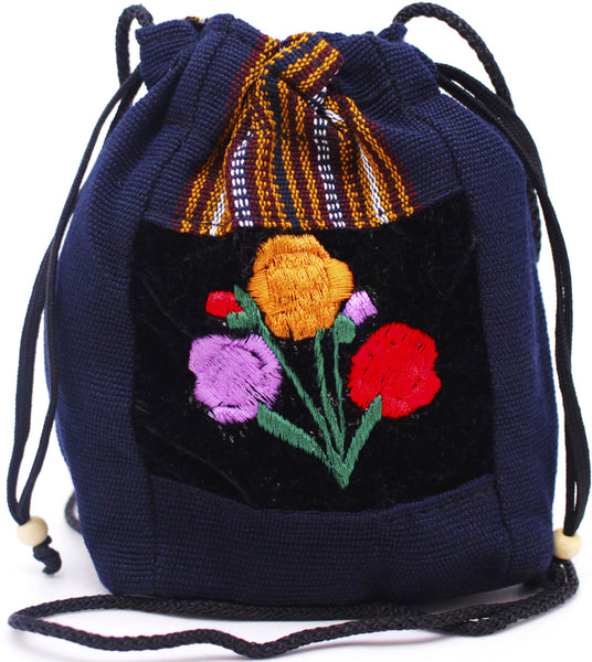 GUATEMALA POUCH PURSE with FLOWERS GPP007