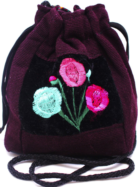 GUATEMALA POUCH PURSE with FLOWERS GPP009