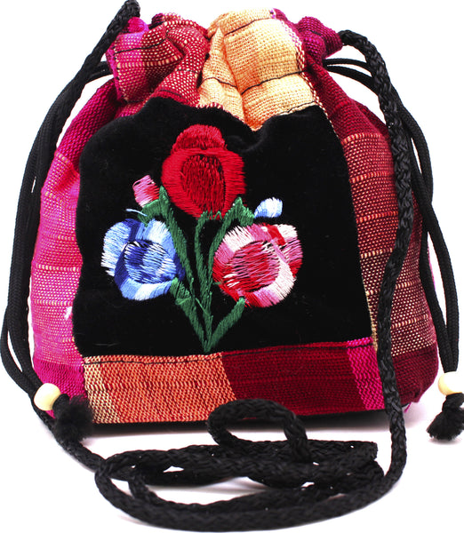 GUATEMALA POUCH PURSE with FLOWERS GPP012