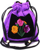 GUATEMALA POUCH PURSE with FLOWERS GPP014