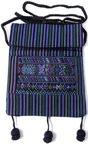 GUATEMALA SHOULDER BAG PASSPORT PURSE  HAND CRAFTED w/ TASSLES GPB003