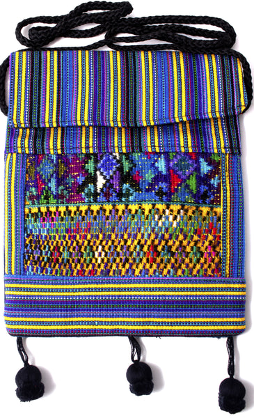 GUATEMALA SHOULDER BAG PASSPORT PURSE  HAND CRAFTED w/ TASSLES GPB007