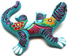 Mexican Hand Painted Clay Gecko MCG008