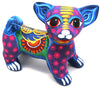 MEXICAN HAND PAINTED CLAY DOG MCD002