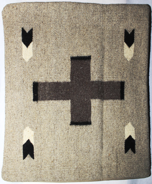 Vintage Mexican Zapotec Rug In Small Size With Stylized: ZAPOTEC RUG PILLOW COVER 100% WOOL HAND WOVEN PCZ009
