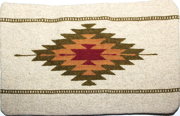 ZAPOTEC RUG PILLOW COVER 100% WOOL HAND WOVEN PCZ010