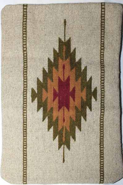 Zapotec Rug Pillow Cover 100 Wool Hand Woven Pcz010