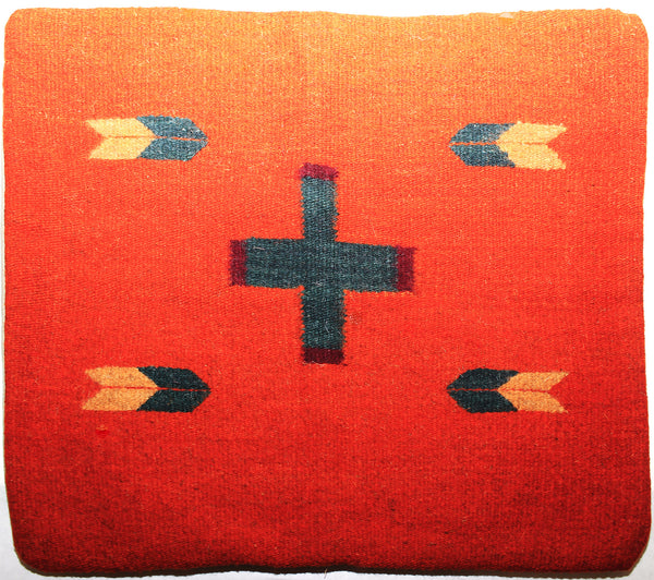 ZAPOTEC RUG PILLOW COVER 100% WOOL HAND WOVEN PCZ013