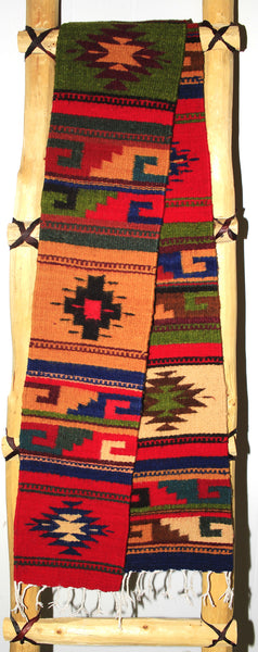 "ZAPOTEC RUG 8"" X 77"" RUNNER WITH SOUTHWESTERN DESIGN  ZRR77-007"