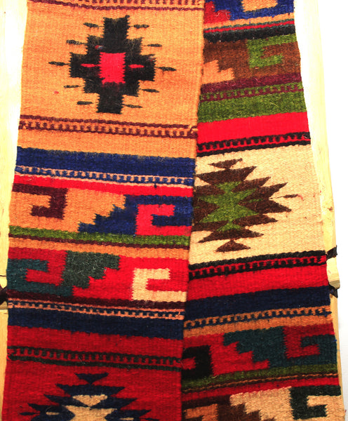 "ZAPOTEC RUG 8"" X 77"" RUNNER WITH SOUTHWESTERN DESIGN ZRR77"
