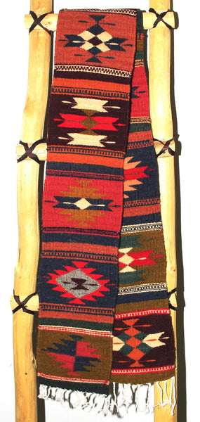 "ZAPOTEC RUG 8"" X 77"" RUNNER WITH SOUTHWESTERN DESIGN  ZRR77-010"