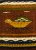 "ZAPOTEC RUG 9"" X 40"" RUNNER WITH TURTLES ZR006"