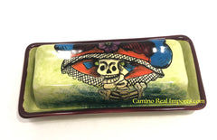 "Talavera Pottery ""Catrina"" Butter Dish Hand Painted  Sm TBDS016"