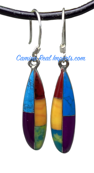 Multi Stone Inlay Earrings JMSER001