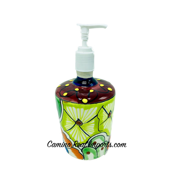 Mexican Talavera Lotion or Soap Dispenser TD004