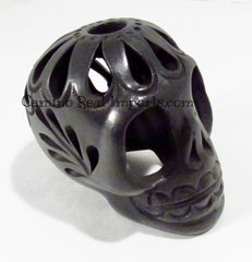 Day Of The Dead Black Clay Skull BCSS001