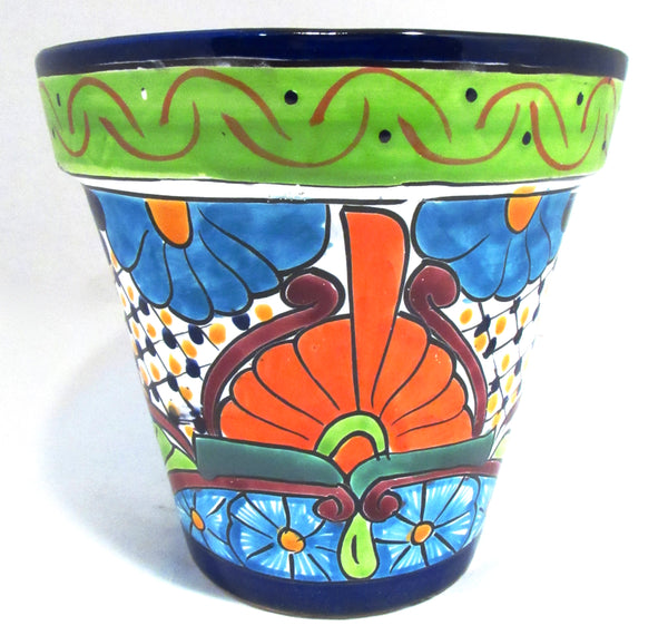 Talavera Flower Pot Planter Caminorealimports.com