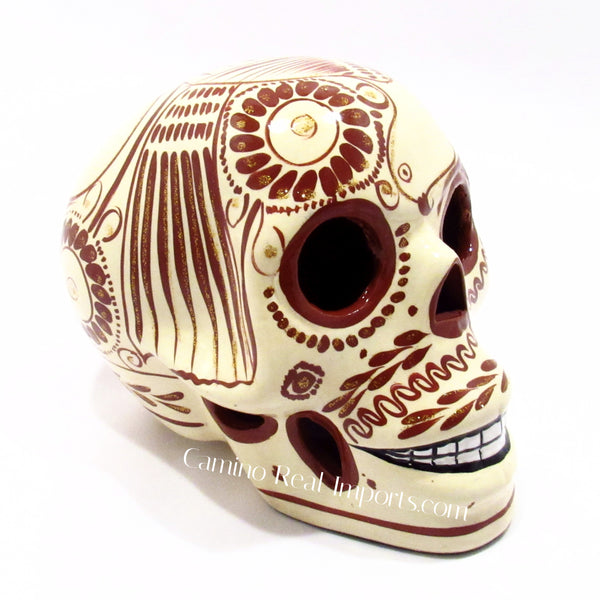 Hand Painted Clay Sugar Skull Caminorealimports.com