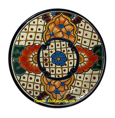 "Mexican Wall Hanging Talavera Pottery Plate 8"" TP8003"