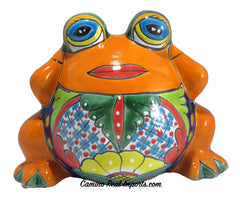 TALAVERA FROG FLOWER POT PLANTER TFP13001