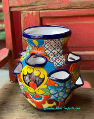 "Talavera Flower ""Strawberry"" Pot Planter 14"" TSTRBP0001"