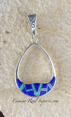 Sterling Silver Lapis Lazuli and Opal Pendant STSP0012