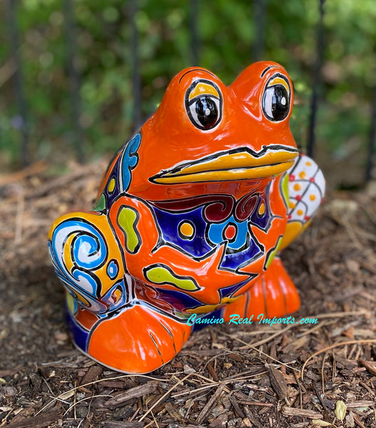 Talavera Frog Flower Pot Planter TFPM10002
