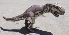 METAL T-REX DINOSAUR YARD DECOR SCULPTURE