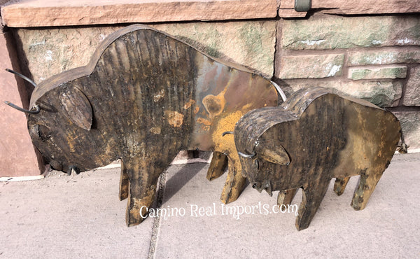 Metal Buffalo Yard Decor Sculpture MTBFS001