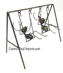 Swing with Ants Rocks With Metal Garden/Yard Decor MASW001