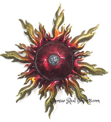 "Wall Hanging Metal Sun 19"" Decor MSS007"