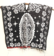 Mexican Poncho  Our Lady of Guadalupe Gaban GA011
