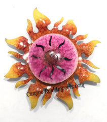 "Wall Hanging Metal Sun 9""  MTS005"