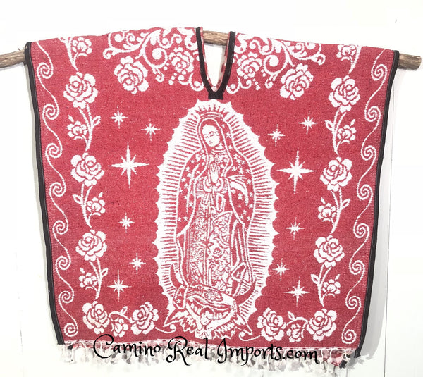 Mexican Poncho Our Lady Of Guadalupe Caminorealimports.com