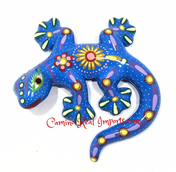 Guerrero Wall Hanging Gecko Lizard  Hand Painted Caminorealimports.com