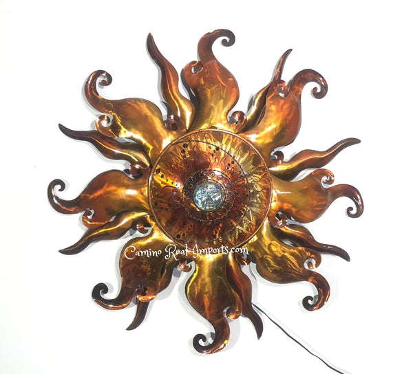 Wall Hanging Metal Sun Decor Caminorealimports.com