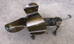 Slinky Weiner Dog Rock With Wrought Iron Garden/Yard Decor DMWS001
