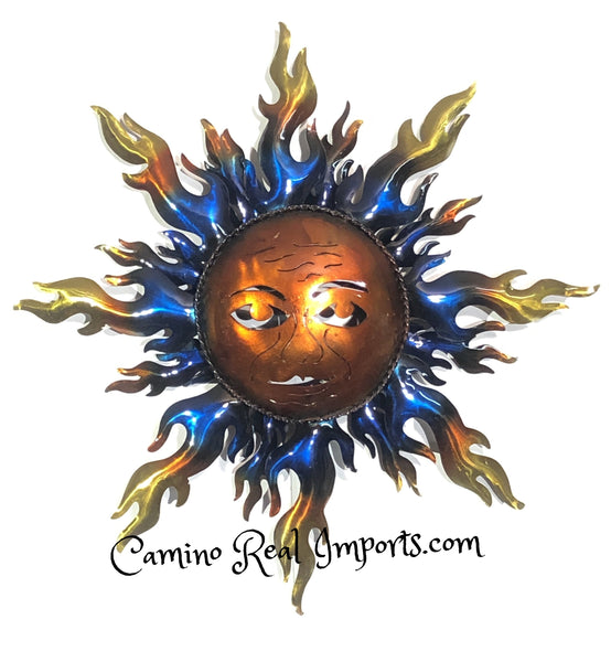 Metal Sun Hand Welded Wall Hanging Caminorealimports.com